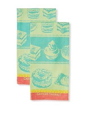 Garnier-Thiebaut Set of 2 Patisserie Kitchen Towels, Tutti Frutti