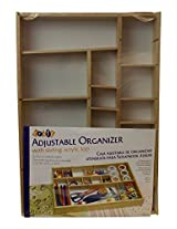 Lipper International 1379 Beechwood Adjustable Organizer with Acrylic Slide Top