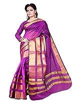 Asavari Magenta Contemporary Design Art Silk Banarasi Saree