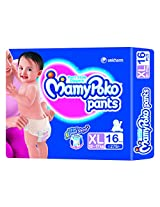 Mamy Poko Pant Style Extra Large Size Diapers (16 Count)