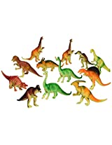 """Oriental Trading  6"""" - 7"""" Assorted PVC Dinosaurs Action Figure (12-Piece)"""