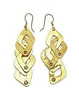 Silver Selection Topaz Brass Earrings
