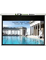 Luzon Dzire Imported Motorised Projector Screen, Size: - 12x9 Ft.(IMPORTED A+++++ FABRIC, BLACK COATED FROM BACK SIDE)
