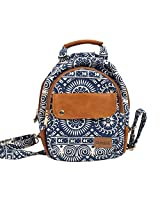 Backpack-Circle Print Blue