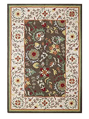 Bashian Rugs Textured Bold Flowers Rug