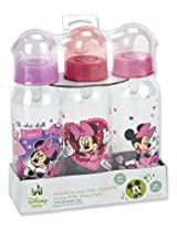 3 Pack Baby Bottles Disney Pixar Cars 2 BPA Free Med Flow Silicone Nipples Age 0 Mater Lightning Mcqueen and More.