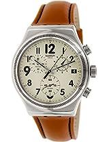 Swatch Leblon YVS408 Beige Analogue Watch - For Men