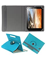 ACM ROTATING 360° LEATHER FLIP CASE FOR LENOVO TAB A8-50 TABLET STAND COVER HOLDER GREENISH BLUE