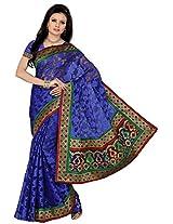 Aadarshini Women's Raw Silk Saree (110000000247, Blue)