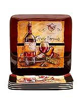 Certified International Melamine Estate Wine 10.5-Inch Dinner Plates - Set Of 6
