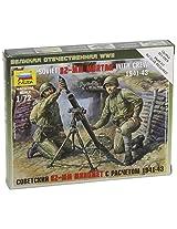 Zvezda Models Soviet 82mm Mortar + Crew