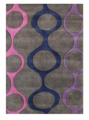 Horizon Alliyah Circle Geo Rug (Grey/Purple Multi)
