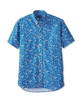 Gitman Blue Men's Nautical All Over Print Shirt (Blue)
