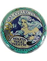 Violet Flavor Gal Spanish Lip Balm in Gold Art Nouveau Tin