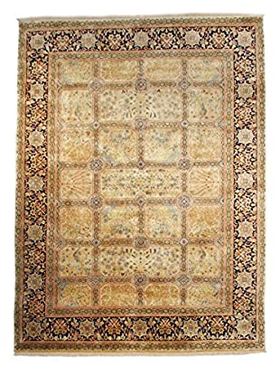 F.J. Kashanian Agra Hand-Knotted Rug, Beige/Navy, 9' x 12'
