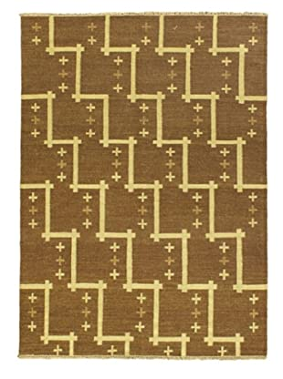 Izmir Kilim Traditional Kilim, Brown, 4' 7
