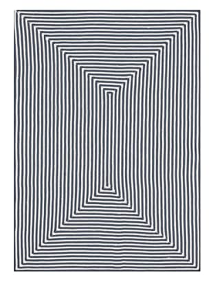 Stripes Indoor/Outdoor Rug (Blue)