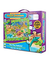 The Learning Journey Puzzle Doubles Find It! Dinosaurs Floor Puzzle, Multi Color
