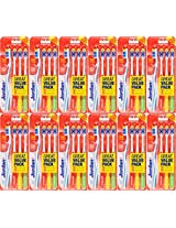 Jordan Total Clean 4pc pac Medium Toothbrush (12)