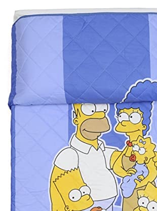 Cartoons Home Quilt Simpsons Family (Blu)