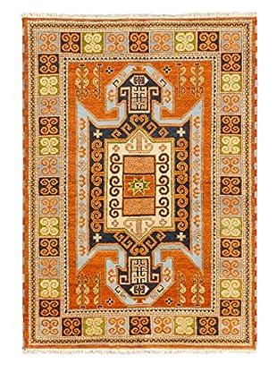 Hand-Knotted Royal Kazak Rug, Dark Orange, 5' 7