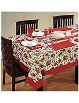 SWAYAM Cotton 8 Piece Kitchen Linen Set - Red & White