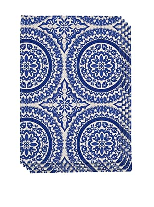 Couleur Nature Set of 4 Medallion Placemats, Navy