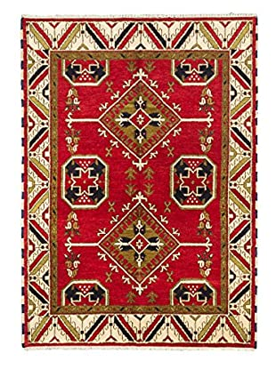 Hand-Knotted Royal Kazak Wool Rug, Red, 5' 9