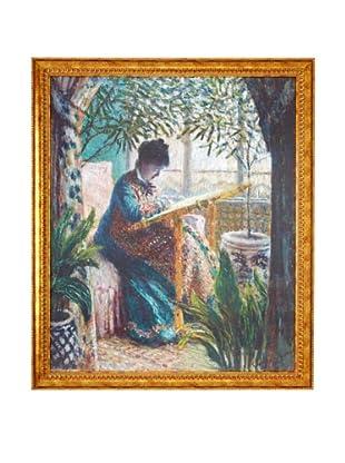 Claude Monet: Madame Monet Embroidering (Camille au métier), 1875