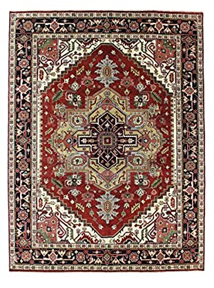 Bashian Rugs One-of-a-Kind Hand Knotted Indo-Herez Rug, Rust, 9' x 12'