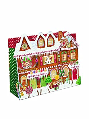 Punch Studio 10-Piece Large Gingerbread House Gift Bags