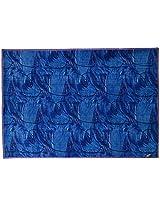 Agra Dari Woolen Carpet - 60'' x 84'' x 0.4'', Blue