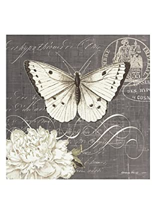 """Kathryn White Butterfly Blossom No. 3 Hand-Embellished Canvas, 20"""" x 20"""""""
