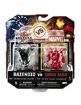 Razenoid vs Silver Face Ironman: Bakugan vs Marvel Series