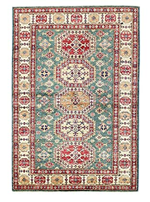Bashian Rugs One-of-a-Kind Hand Knotted Kazak Rug, Green, 4' 1