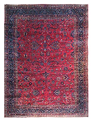 The Rug Market Parisha Antique Indian Collectors Item Rug, Red/Navy/Ivory, 12' x 22'