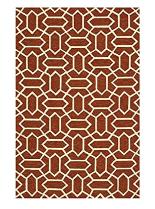 Venice Beach Indoor/Outdoor Rug (Rust/Ivory)
