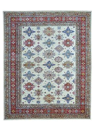 Kalaty One-of-a-Kind Kazak Rug, Ivory, 8' x 10' 3