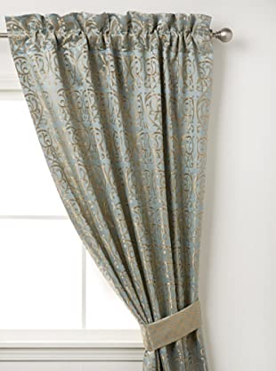 Waterford Linens Elenora Curtain Panel, Blue, 50