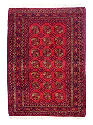 Bashian Hand Knotted Afghan Rug, Red, 6' 7