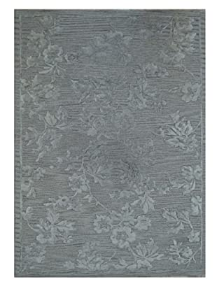 Mili Designs NYC Gray Rosy Rug, 5' x 8'