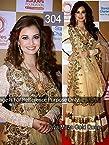 Bollywood Creation Diya Mirza Lehenga Saree - Gold
