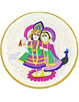 LGW Goddess Radha Lord Krishna Silver Precious Coin for Unisex (100Grams)