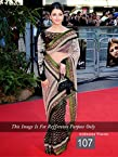 Bollywood Replica Aishwarya Rai Net and Viscose and Jacquard Saree In Black and Off White Colour NC680