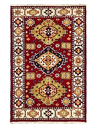 Hand-Knotted Royal Kazak Wool Rug, Red, 3' 2