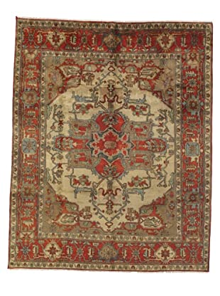 Rug Republic One Of A Kind Indo-Serapi Hand Knotted Rug, Antique Red/Multi, 8' x 9' 11