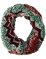D&Y Women's Mixed Color Zig Zag Single Loop Infinity Scarf