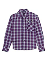Full Sleeve Cool Check Boys Shirt Violet