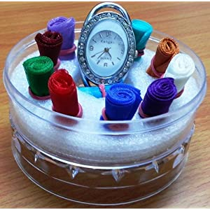 11 Interchangeable Trendy Ribbon Strap Ladies Watch
