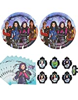 Disney Descendants Party Supplies Pack For 12 16 Guests Plates And Napkins Plus Cupcake Rings